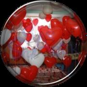 Купить шарики,  сердца и фигуры на 14 февраля. СКИДКИ!